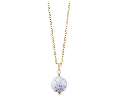 Pozlacený náhrdelník s howlitem