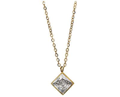 Pozlacený ocelový náhrdelník s čtvercovým přívěskem