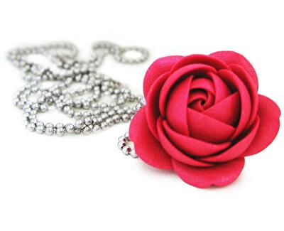 Strălucitoare rubin colier buchet de flori