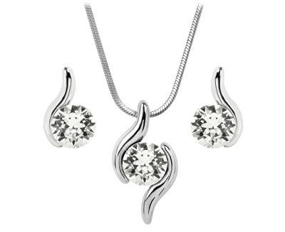 Troli Sada náhrdelníku a náušnic Chaton Wave Crystal