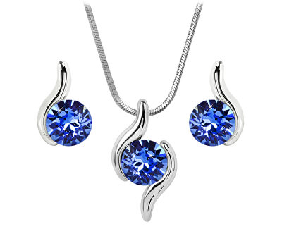 Troli Sada náhrdelníku a náušnic Chaton Wave Sapphire