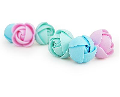 Cukorka virágok fülbevaló készlet