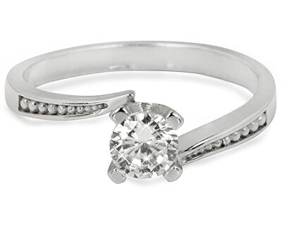 Troli Stříbrný zásnubní prsten s čirým krystalem 426 001 00500 04