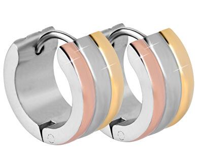 Tricolor ocelové náušnice kroužky