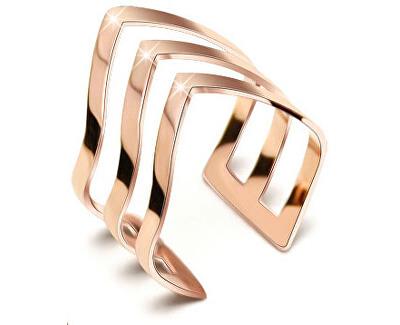 Inel triplu din oțel, culoare bronz