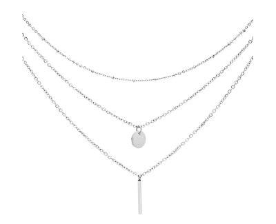 Trojitý ocelový náhrdelník