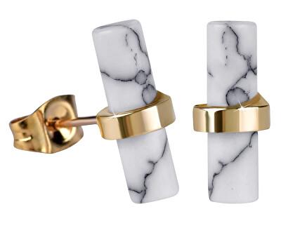 Zlacené ocelové náušnice ve skandinávském stylu