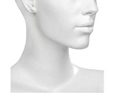 Ocelové náušnice s krystalem ESJ04