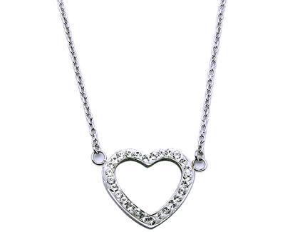 Colier din oțel cu NLM62 inima