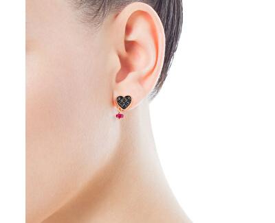 Srdíčkové náušnice s kamínky 314933510