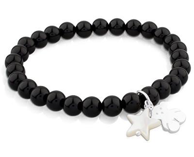 Onyxový náramek s medvídkem a hvězdičkou 515114570-M