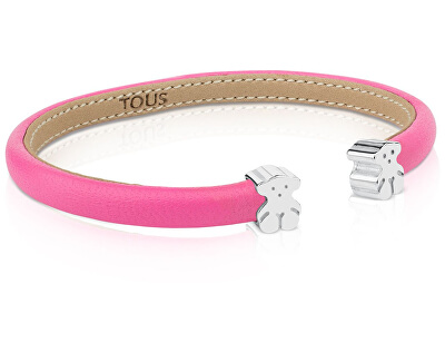 Růžový náramek s medvídky 311901500 - obecný kov 3 g + stříbro 2 g - SLEVA I