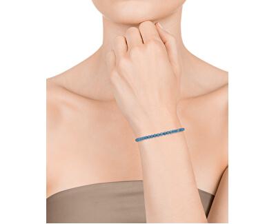Náramek s modrými achátovými korálky 75120P01013