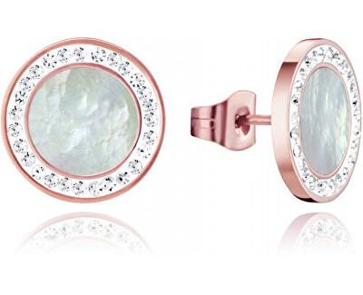 Bronzové náušnice s krystaly Chic 75073E01012