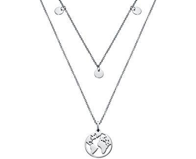Dvojitý náhrdelník s mapou světa Kiss 15017C01000