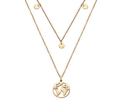 Dvojitý náhrdelník s mapou světa Kiss 15017C01012