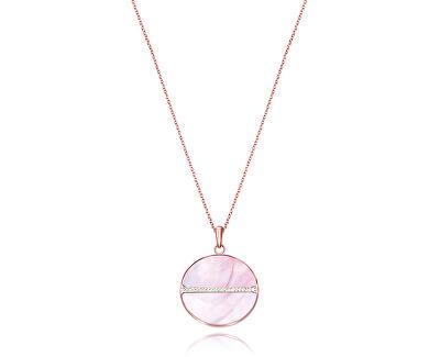 Nádherný bronzový náhrdelník s krystaly Chic 75075C01012