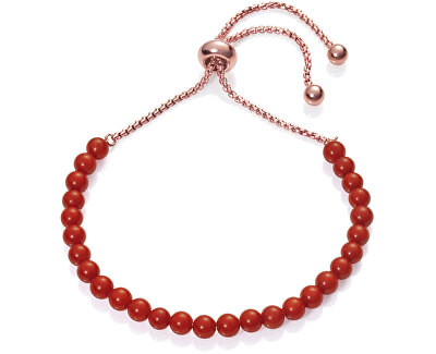 Náramek s červenými korálky Chic 75120P01017
