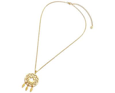 Pozlacený náhrdelník lapač snů Happiness 90047C01012