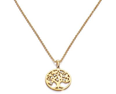Pozlacený náhrdelník se stromem života Popular 80007C01012