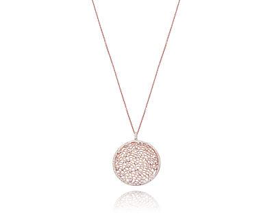 Slušivý bronzový náhrdelník s krystaly Chic 75040C01012