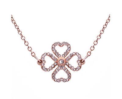 Moderní náhrdelník s krystaly Liny Rose Gold