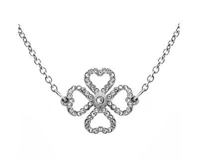 Moderní náhrdelník s krystaly Liny Silver