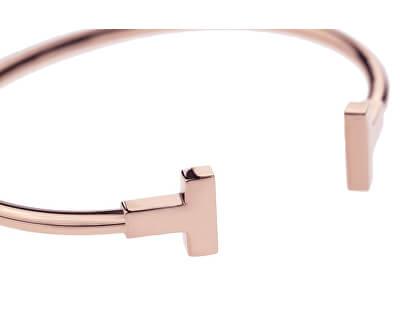 Luxusní růžově zlacený pevný náramek VB1042R