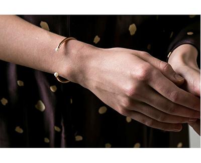 Pevný náramek s perličkami VB1086G