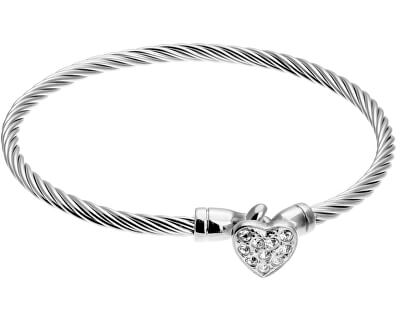 Brățară solidă din oțel cu inimă VB1093S