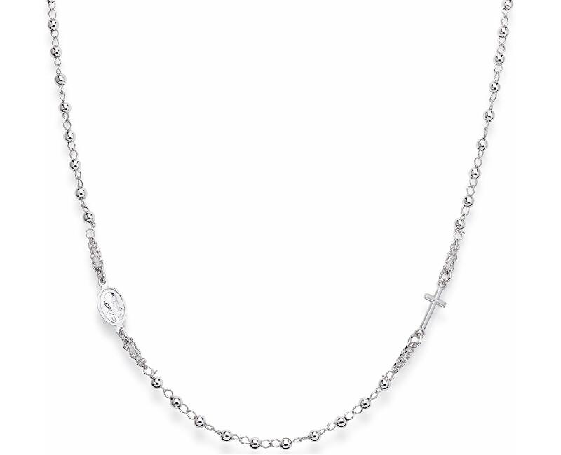 Amen Originální stříbrný náhrdelník Rosary CROB3