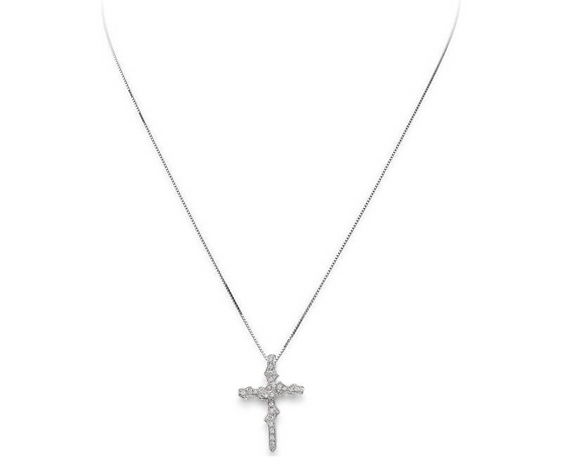 Amen Colier original din argint cu zirconi Crosses CLT3