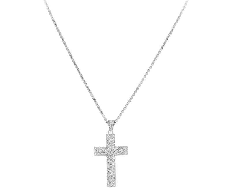 Amen Colier original de argint cu zircon Rosary CCZBB