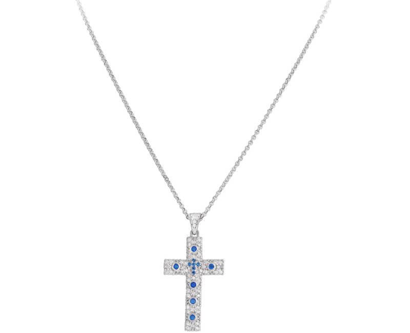 Amen Originální stříbrný náhrdelník se zirkony Rosary CCZBBL