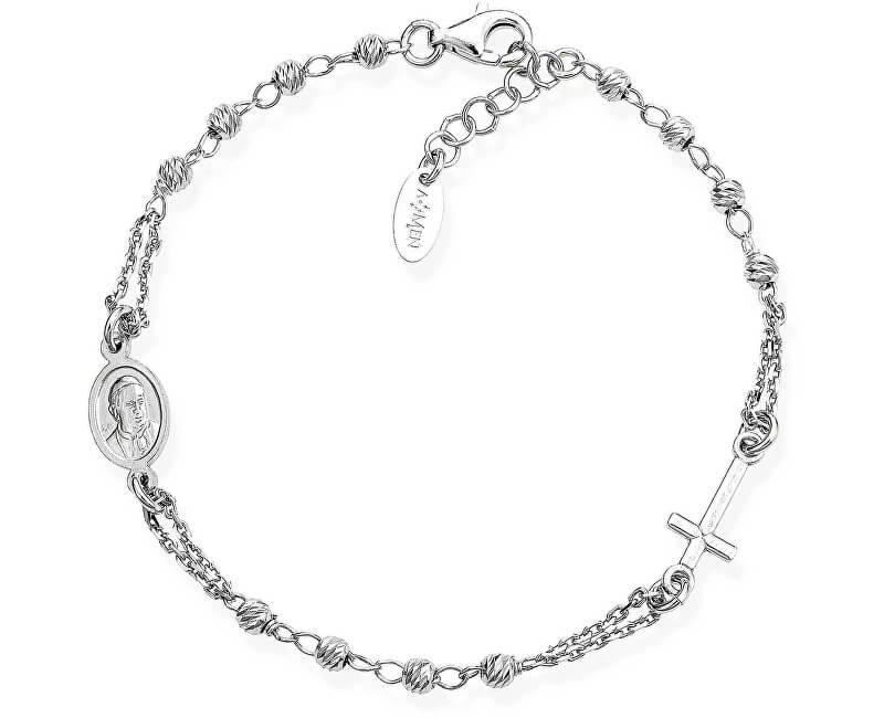 Amen Originální stříbrný náramek Rosary BROBD3