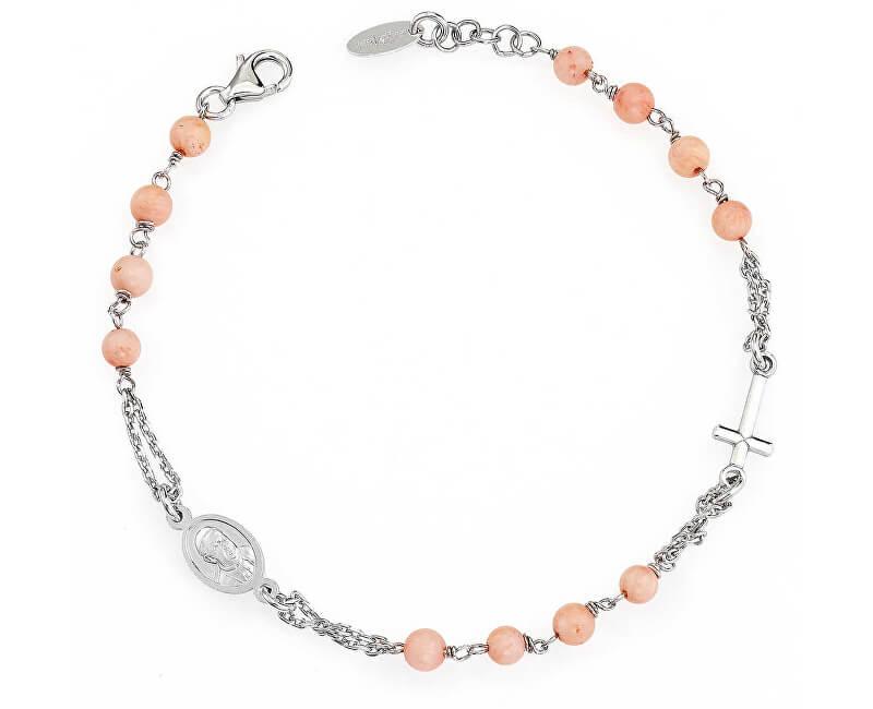 Amen Originální stříbrný náramek s korálky Rosary BROBRO3P