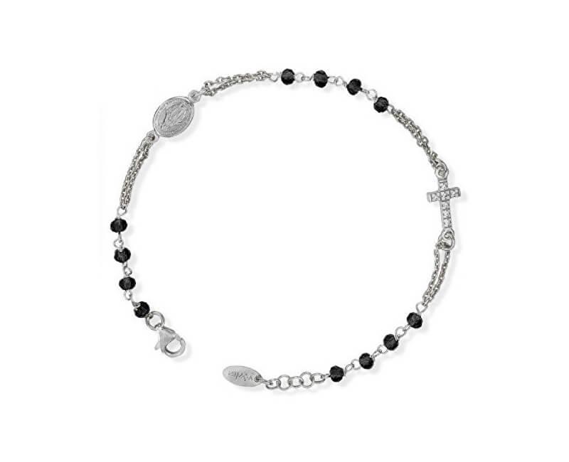 Amen Originální stříbrný náramek s krystaly a zirkony Rosary BROBNZ3