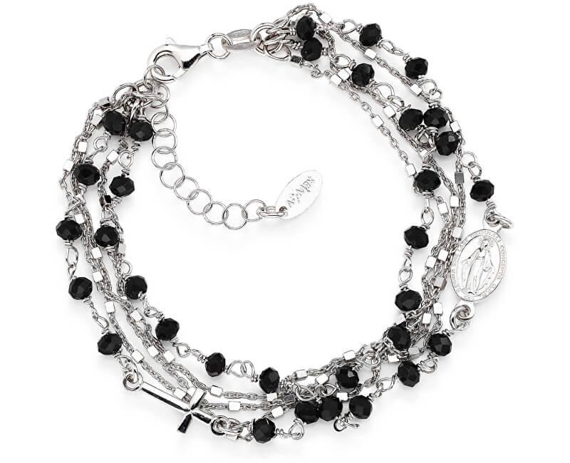 Amen Originální stříbrný náramek s krystaly Rosary BRMF