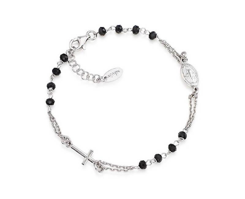 Amen Originální stříbrný náramek s krystaly Rosary BROBN3