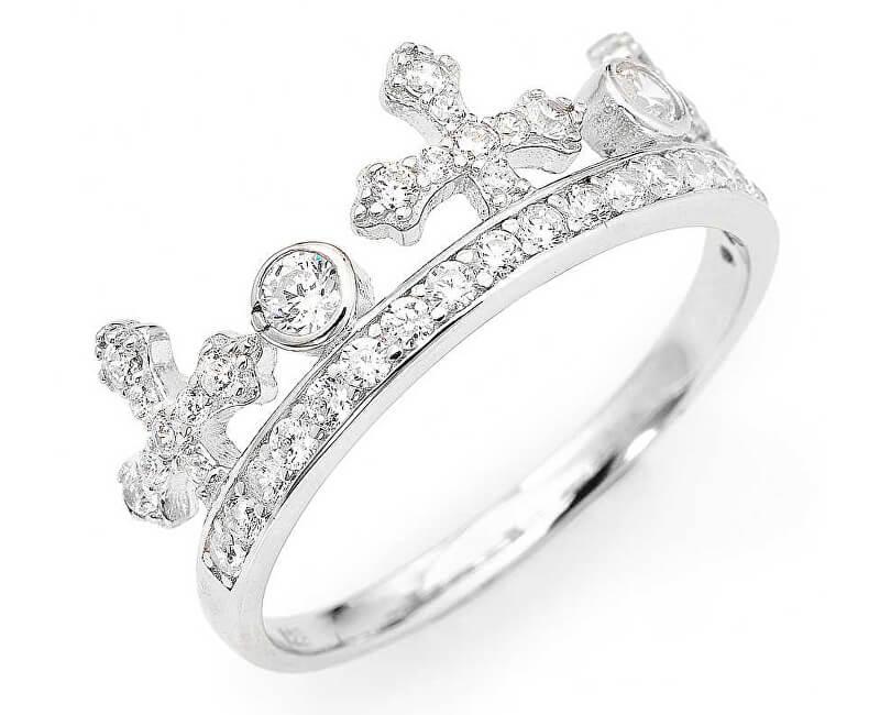 Amen Inel original de argint cu zirconi Coroane AC1