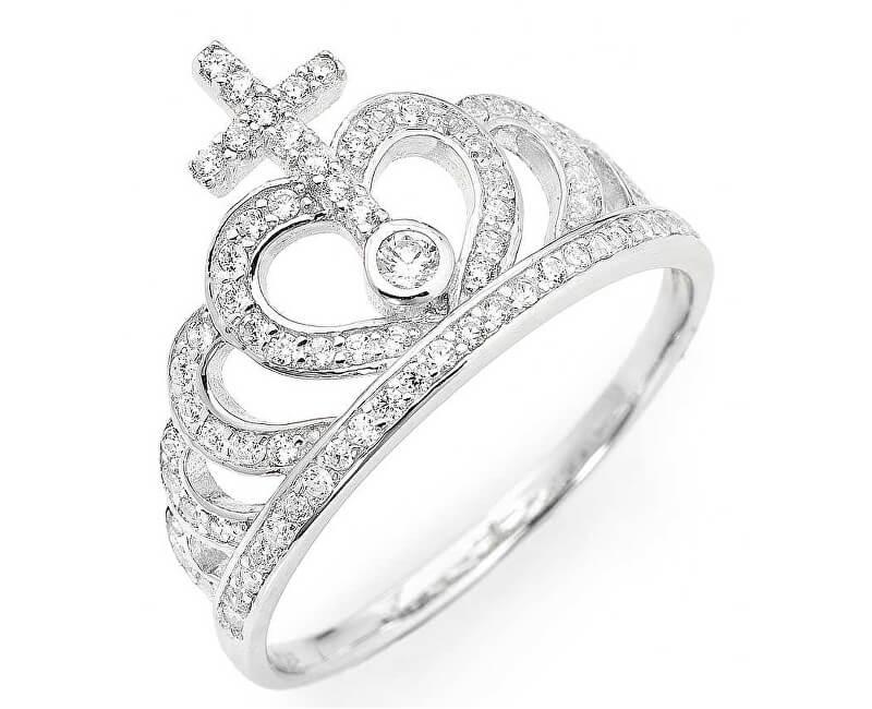 Amen Inel original de argint cu zirconi Coroane AC2