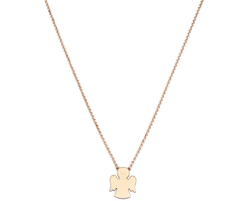 Amen Pink aur placat cu aur colier Angels CLAR3