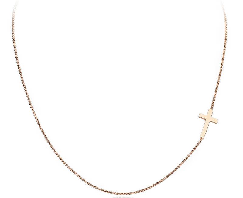 Amen Růžově pozlacený stříbrný náhrdelník Pray, Love CLCR3