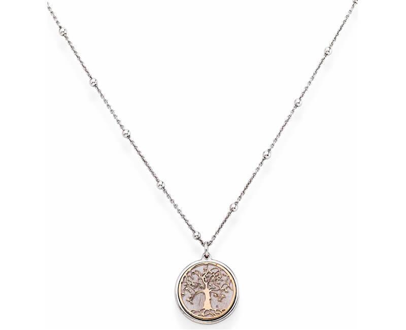 Amen Pink aur placat colier de argint Tree of Life CLAL3