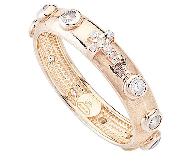 Amen Rosu ARORB inel de argint cu zircon roz si zircon