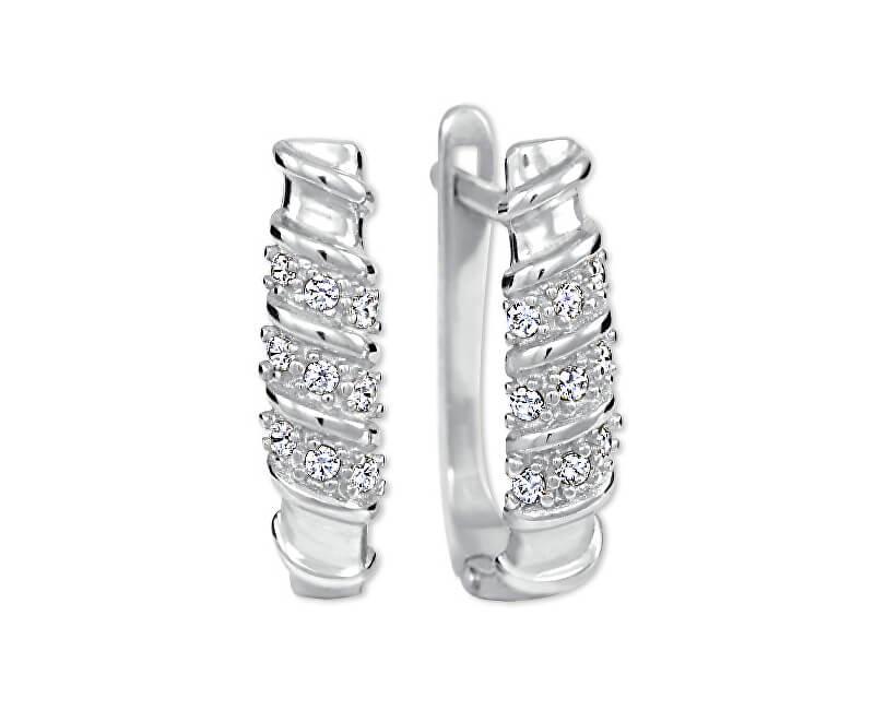 Brilio Cercei de aur pentru femei cu cristale 239 001 00980 07 - 2.05 g