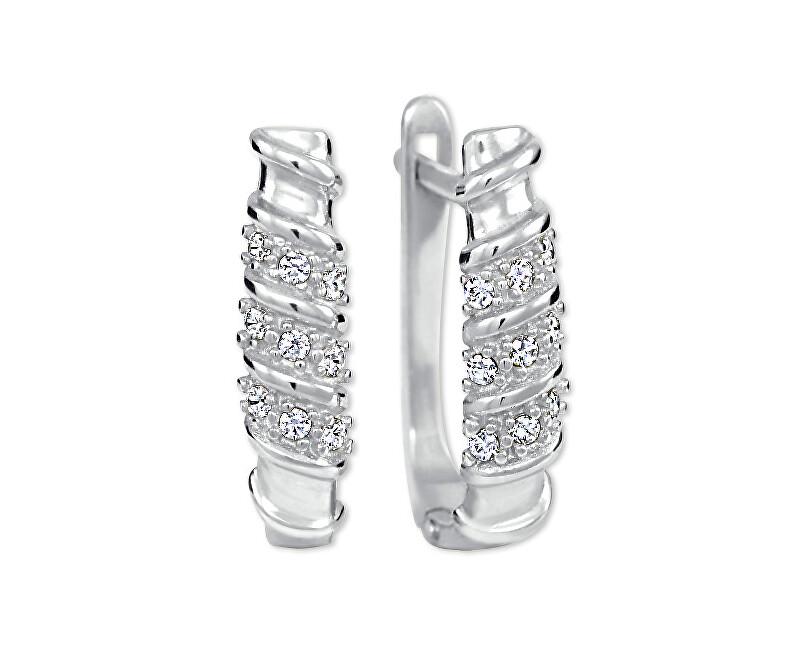 Brilio Cercei de aur pentru femei cu cristale 239 001 00980 07 - 2.10 g