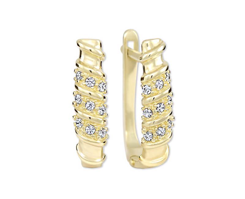 Brilio Cercei de aur pentru femei cu cristale 239 001 00980 - 2.15 g