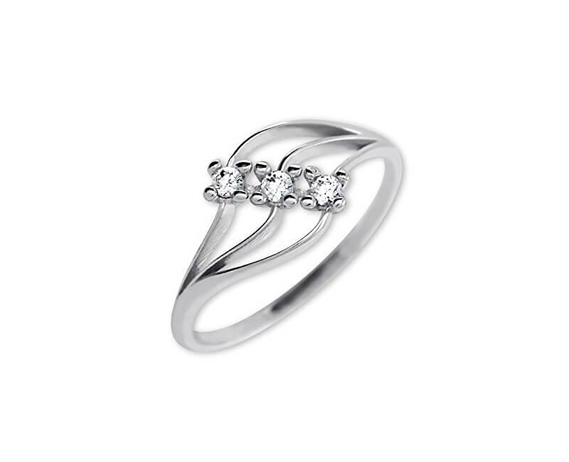 Brilio Dámský prsten s krystaly 229 001 00546 07 - 1,30 g