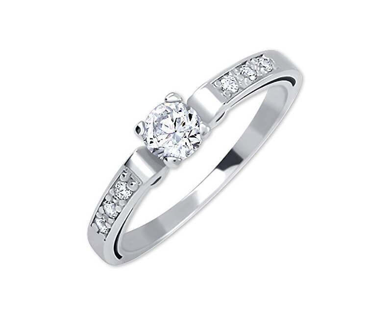Brilio Dámský prsten z bílého zlata s krystaly 229 001 00498 07